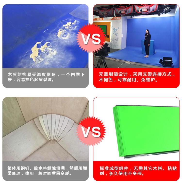 扇型免漆拼接式蓝(绿)箱(图1)